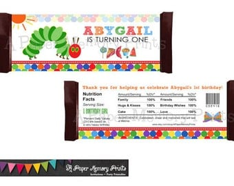 Hungry Caterpillar Candy Wrapper - DIY Printable