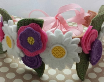 Felt Flower Fairy Crown Headband