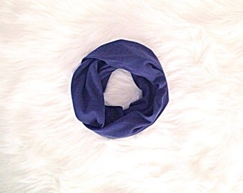SALE! Baby Toddler Child Infinity Scarf - Navy Blue - READY to SHIP