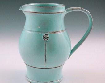 Turquoise pitcher medium size.