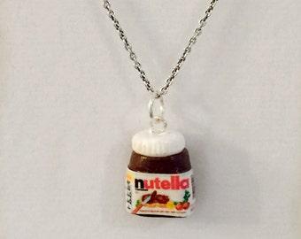 Polymer clay charm - Miniature Jar of Nutella