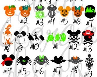 Halloween Magic Band Decals