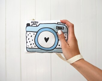 Plush Camera Pillow Pretend Play Camera For Kids Pretend Camera Strap Nursery Decor Baby Shower Gift Fabric Camera Strap Photo Gift