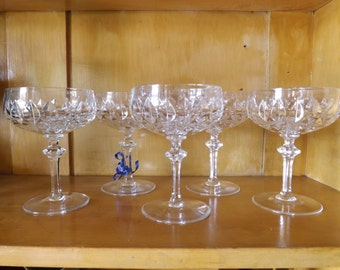 Gorham Champagne Sherbet Crystal Glasses La Scala 5 Available_Wedding Gift