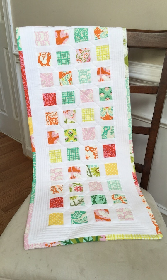 Spring quilted table runner, summer quilted table runner, quilted table runner, Spring table runner, summer table runner