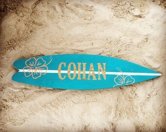 Surfboards, Surfboard sign, surfboard decor, custom surfboard, beach decor, wood surfboard, beach wedding decor, personalized gift, beachy