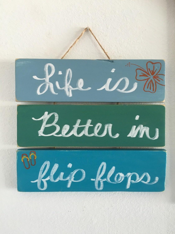 Flip Flop Bathroom Decor Flip Flops Etsy