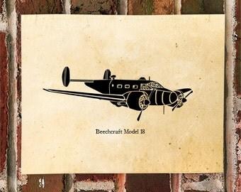 "KillerBeeMoto: Limited Print Beechcraft Model 18 ""Twinbeech"" 1 of 50"