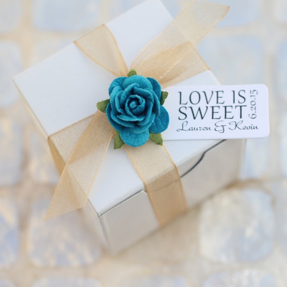 Love Is Sweet Wedding Gift Tags : favor tag reads LOVE IS SWEET - personalized tags, wedding favor tags ...
