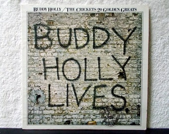 Buddy Holly/ The Crickets 20 Golden Hits. Vintage vinyl LP 33. Oldies but Goodies. Nostalgia, Peggy Sue, That'll Be The Day, Oh Boy...