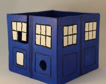 TARDIS Yarn Bowl, Doctor Who Yarn Bowl, Ready to Ship
