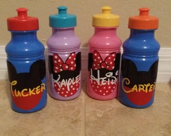 Personalized Disney Water Bottles, Kids and Adult Parties/Events, Completely Custom Disney Water Bottle favors