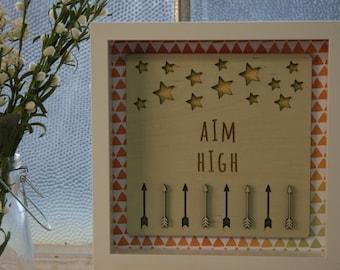 Aim High-Framed Wooden Wall Art