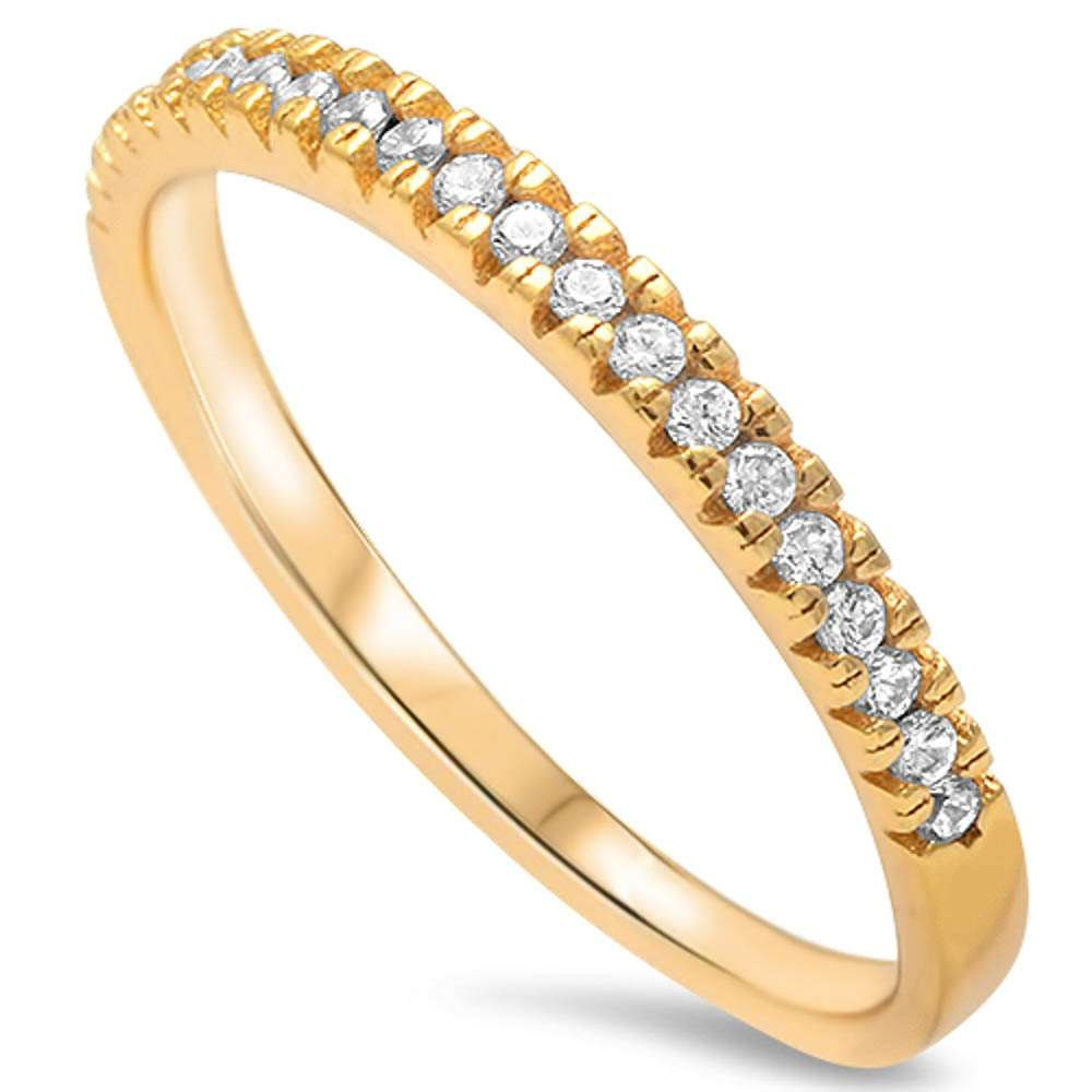 Half Eternity Band Bands: 2mm Half Eternity Stackable Band Ring Sterling Silver