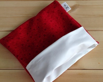 Red flower reusable snack bag