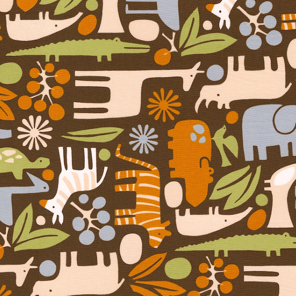 Brown modern zoo fabric by the yard boy fabric from for Minecraft fabric by the yard