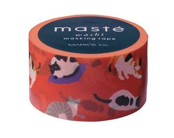 Cat washi tape by Masté Masking Tape Japan