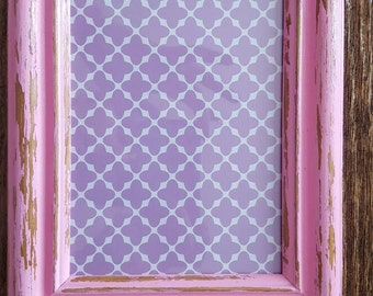 8x10 Pink Chiffon Distressed Picture Frame