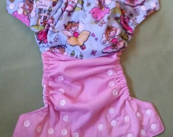 One Size Pocket Cloth Diaper - Pretty Fairies
