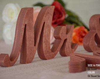 Wedding Signs- Mr & Mrs Wedding Decorations- Wedding decor- Mr and Mrs signs