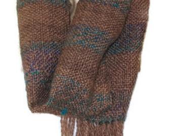 Hand woven, Scarf, cowl, neckwarmer, woven, brown scarf, infinity, infinity scarf, woven scarf, handmade scarf, winter scarf, woven cowl