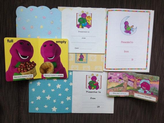 Barney Baby Bop Purple Dinosaur Book Cake Pan Invitation