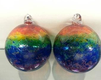 Rainbow colored ornament