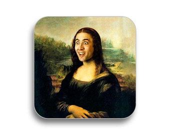 Mona Lisa Coaster Etsy