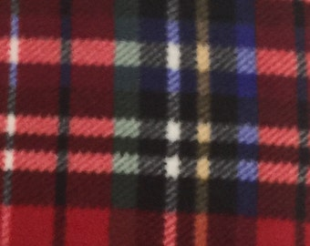 """Red 20"""" Tartan Plaid Decorative Accent Pillow Cover, Toss Pillow, Soft Fleece Plaid Pillow Cover, Decorative Envelope Throw Pillow Cover"""