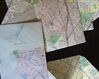 Vintage Map Envelopes