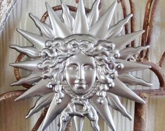 Sun  Stamping, Metal Medusa Stamping,large, Large Stamping DIY  Embellishments,Sun Face Stamping,Home decor