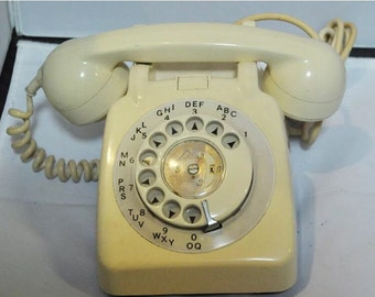 Original Vintage 1960's GPO 760L cream Rotary  Telephone