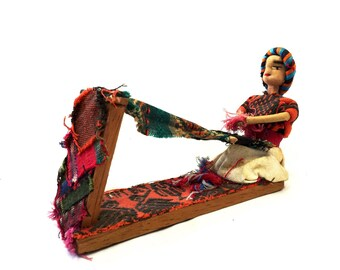South American Weaving Lady Doll