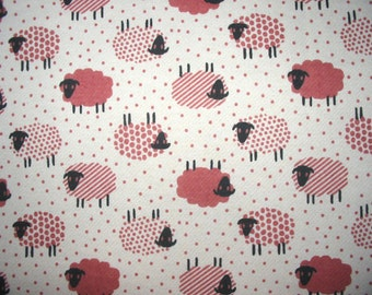 Brushed French Terry Knit Fabric Sheep