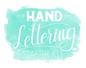 Hand Lettering Starter Kit // A Quick Guide to Hand Lettering by Brittany Morgan (Glitter & Bold) // Hand Lettering Instruction Book