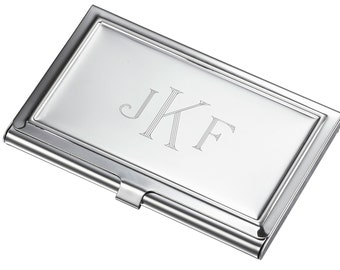 Personalized Business Card Case, Stainless Steel Business Card Case, Engraved Business card Holder, Corporate Gifts, Groomsmen gifts • V109B