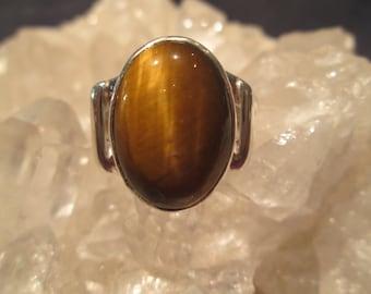 Tigereye Mans Ring ~Sterling Silver~ Handmade
