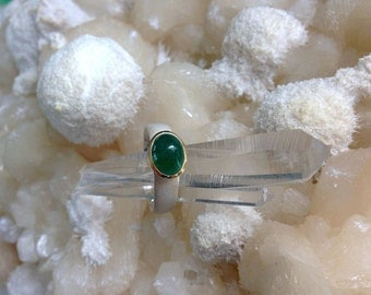 Emerald Ring Sterling Silver