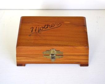 Cedar Wood Trinket Box Mother