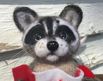 Canadian Racoon - Felted Toy