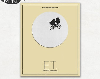 E.T. THE EXTRA TERRESTRIAL Minimalist Movie Poster, Fine Art Print