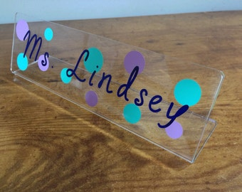Personalized Name Plate, Personalized Teacher Name Plate, Teacher Name Sign, Teacher Name Plate