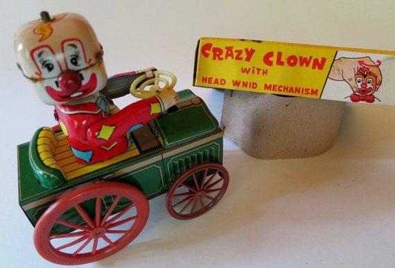 Crazy Clown Tin Toys