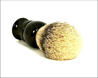 SALE! Shaving Brush, Silvertip Badger Hair Resin Brush. Acrylic Shaving Brush. Shaving Brush Handle. Shaving Kit. Groomsman Gift. Wet Shave.