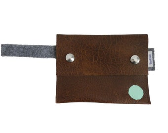 Pouch| Purse| Brown Pouche| Brown and Mint