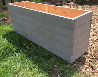 Cedar planter Etsy