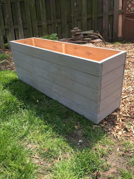 Cedar Planter Planter Box Outdoor Storage Wood Planter Outdoor