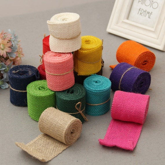 Burlap Ribbons Burlap Rolls Jute Ribbon 2yards In 1 Roll