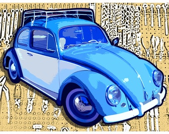 VW Beetle Print