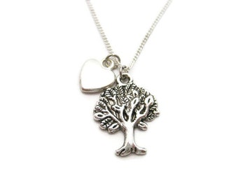Tree Necklace Oak Tree Jewelry  Womans Gifts Under 20 Nature Lovers Gift Tree Hugger Necklace I love Trees Necklace